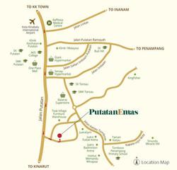 Putatan Emas Location Map