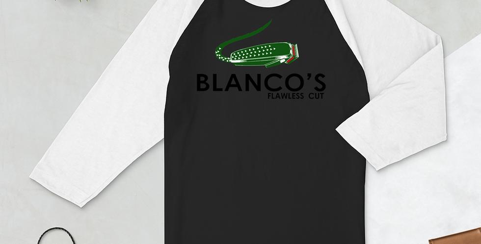 Blanco's Flawless Cuts 3/4 sleeve raglan shirt