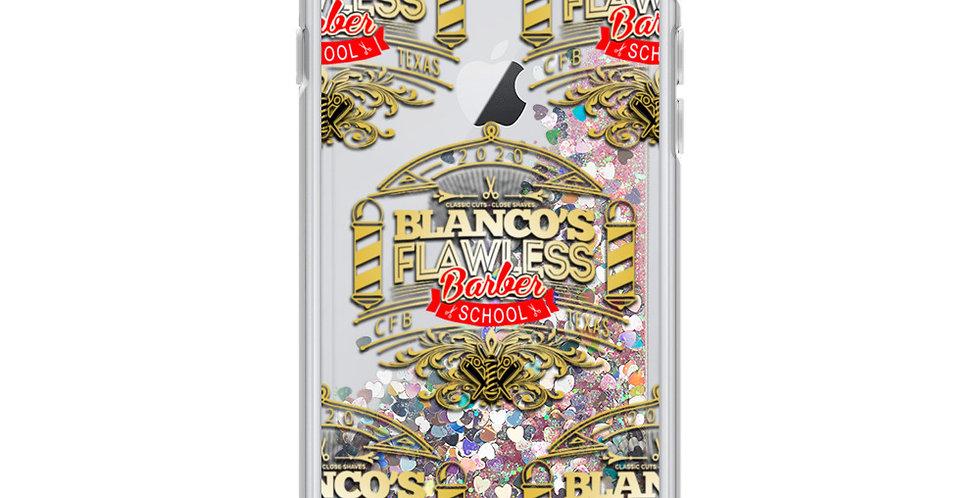 Liquid Glitter Phone Case Barber School