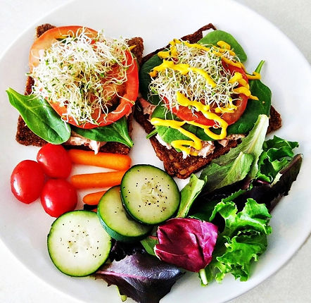 Healthy Lunch Idea Using a Rainbow of Colours Healthy Recipe
