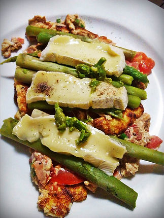 Salmon and Asparagus Omelette Healthy Recipe