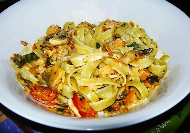 Delicious Smoked Salmon Fettucine Healthy Recipe
