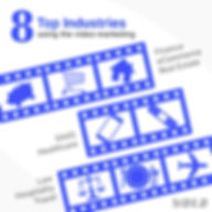 8 Industries Video Marketing - Infograph