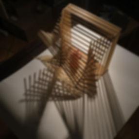 Crèche en baguettes de bois