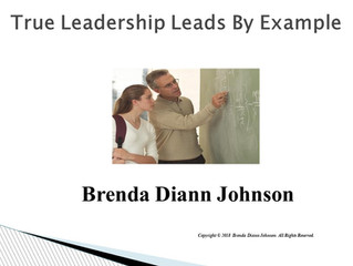 True Leadership Leads By Example