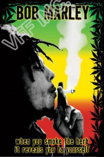 Bob Marley Flag 3ft X 5ft Polyester Banner