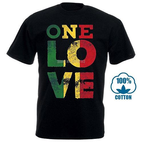 100% Cotton One Love T Shirt Unisex