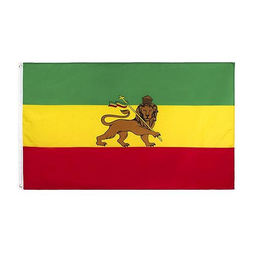 Ethiopian Lion Flag of Judah Rastafari Flag  3ft X 5ft