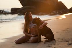chien et femme