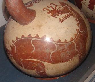 Moche Dinosaur Vase