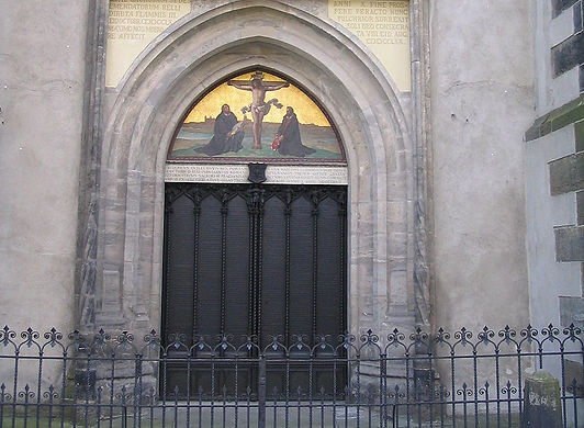 Door Of The Castle Church At Wittenberg