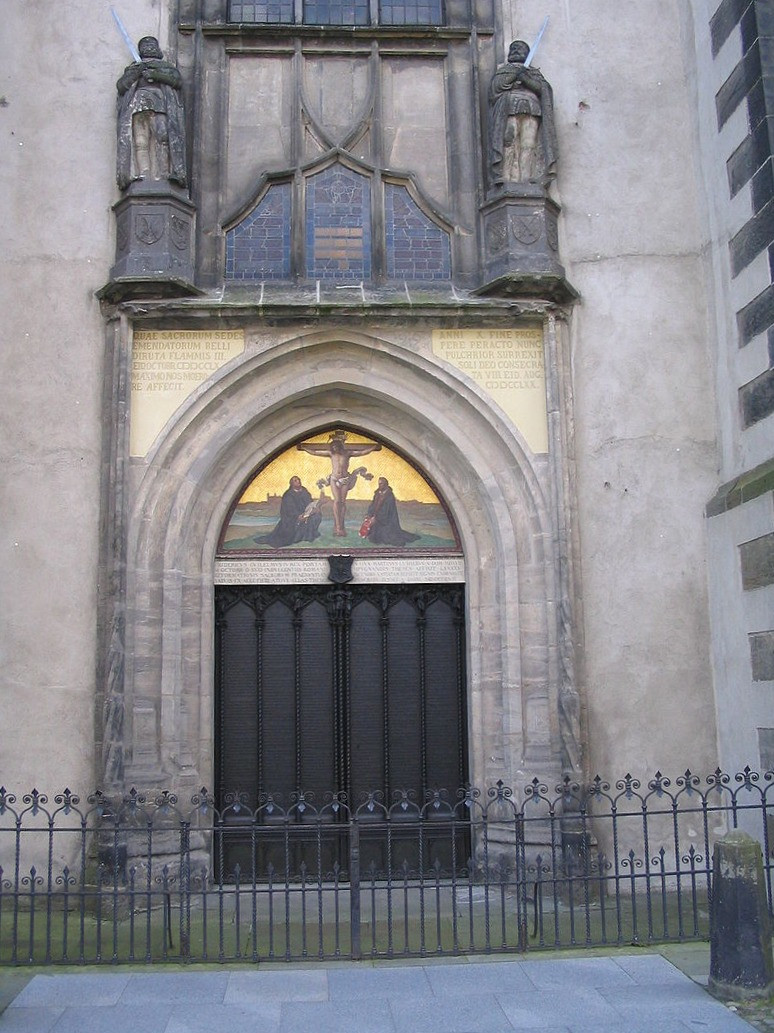 Modern Door Of The Castle Church (Albeit Not The Same Door To Which Luther Is Said To Have Nailed The 95 Theses)