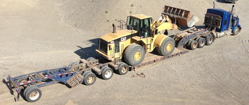 Cat Loader 8 axle load
