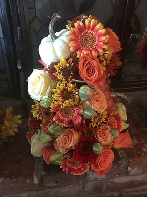 Fall flowers, engagement, flower tower, harvest, fall colors