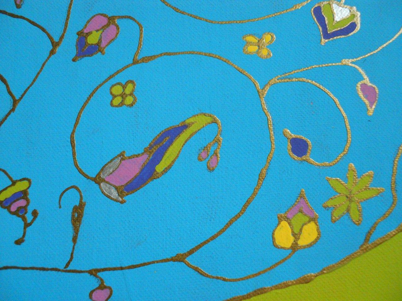 Blue Paisley Detail 3