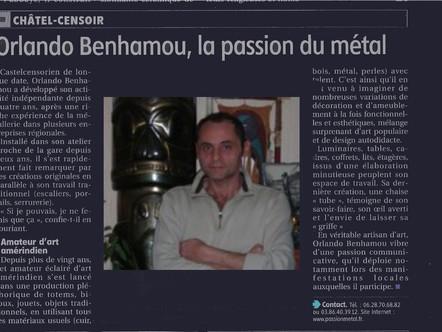 """Article paru dans """"l'Yonne Républicaine"""""""