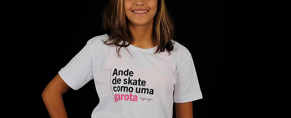 Camiseta Ande de skate como uma garota