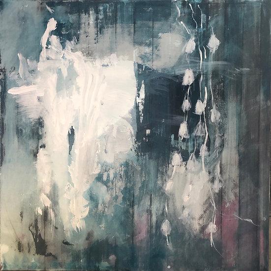 White Blossom -80x80cm canvas