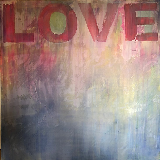 Love in Blue -80x80 canvas