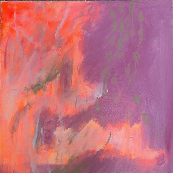 Fluro Delight 60x60cm canvas