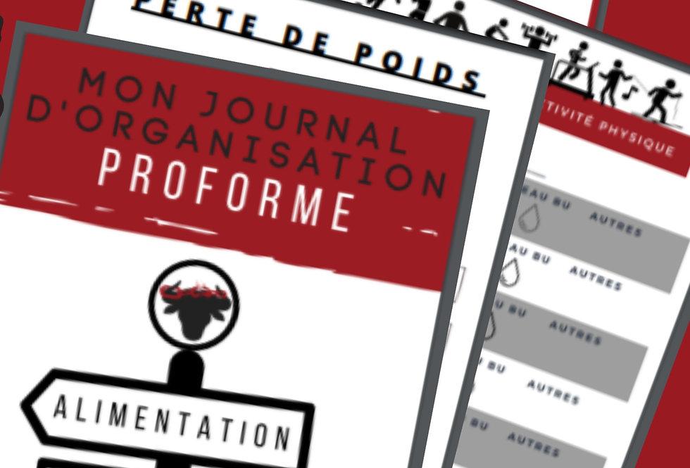 AGENDA ''Mon journal d'organisation proforme''