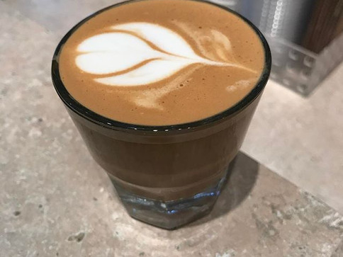 A beautiful way to start the day #friday #birchandbanyancoffee #cortado #coffeeshop #newglasses #gibraltarglass
