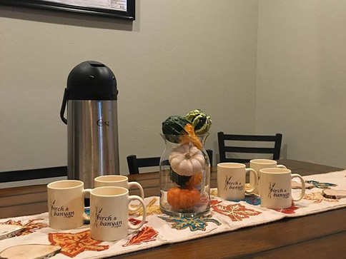 Looking for a place to hold an off-site meeting_ Call us or stop by to reserve our conference room! #birchandbanyancoffee #smalltown #shoplo