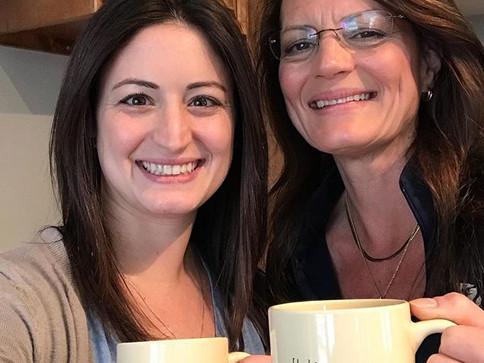 Mother-daughter shifts are always great! #birchandbanyancoffee #family #coffee #coffeeshop #motherdaughter #downtownhartland #hartlandwi #la