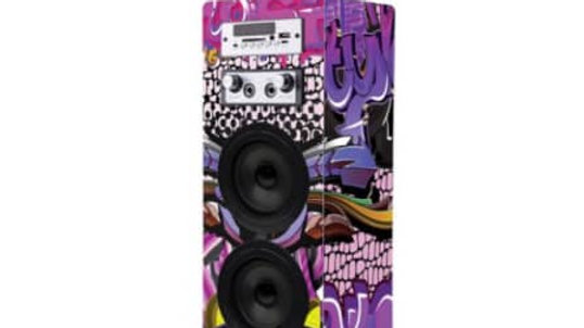 Volkano Carnival Series Wrapped AUX Tower Speaker Twin Multicolour Wrap