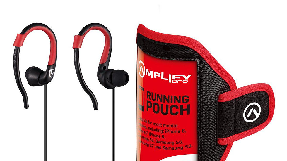 Amplify Pro 2-IN-1 Bundle Jogger Series Earphones With Pouch