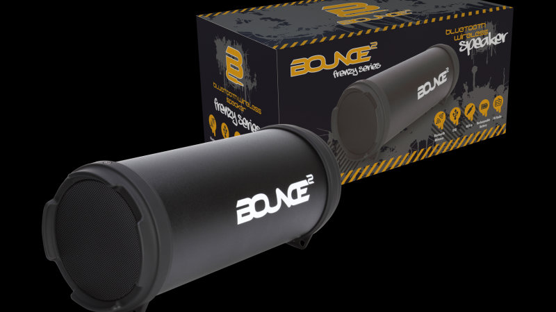 Bounce Frenzy Series Mini tube BT speaker - Black
