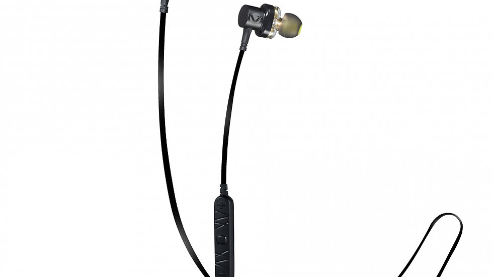 VolkanoX Resonance Series Dual Driver Bluetooth Earphones - Black