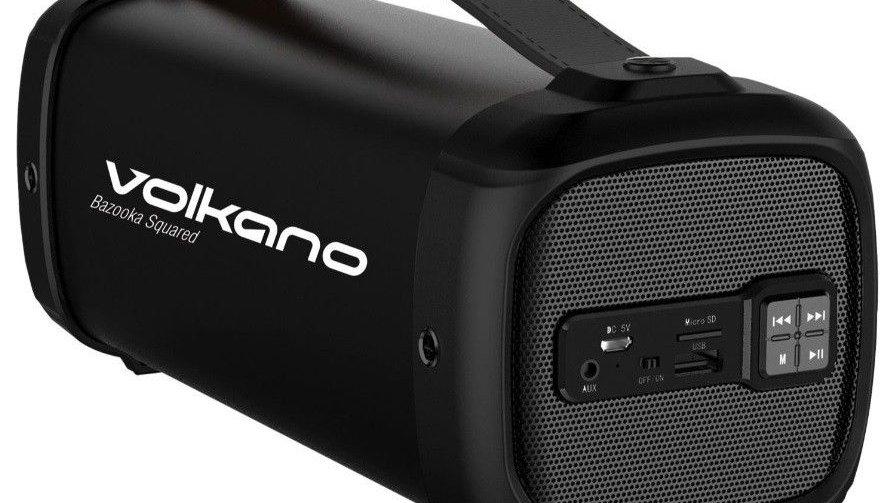 Volkano Bazooka Squared Series Bluetooth Speaker Square Shape - Black