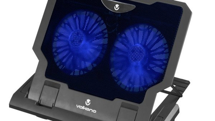 Volkano Glacier Series Upright Notebook Cooling Stand with Dual Fans