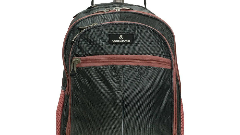 Playground Orthopaedic Backpack 27L; Dark Grey/Pink