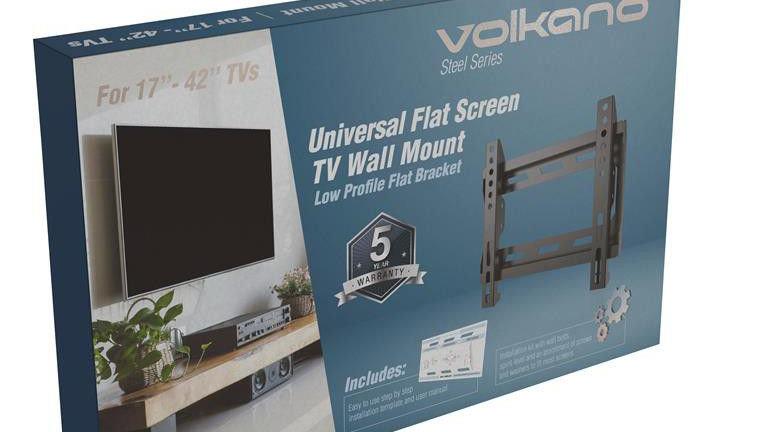 "Volkano TV Wall Mount Flat 17-42"" - Black"