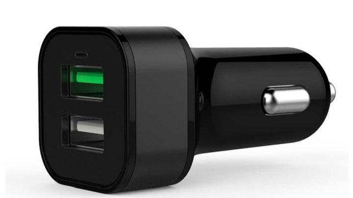 Volkano Boulevard Series USB 2 port QC3.0 Car Charger