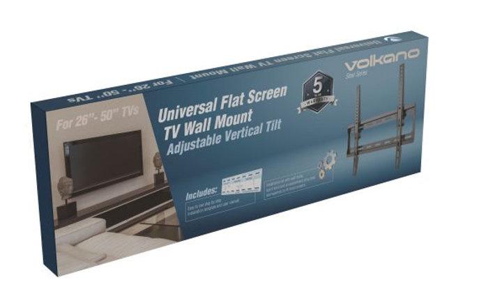 "Volkano TV Wall Mount Tilt 27-55"" inch - Black"