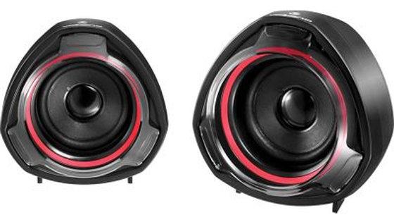 Volkano Turbine Series 2.0 USB Speakers - Black/Red