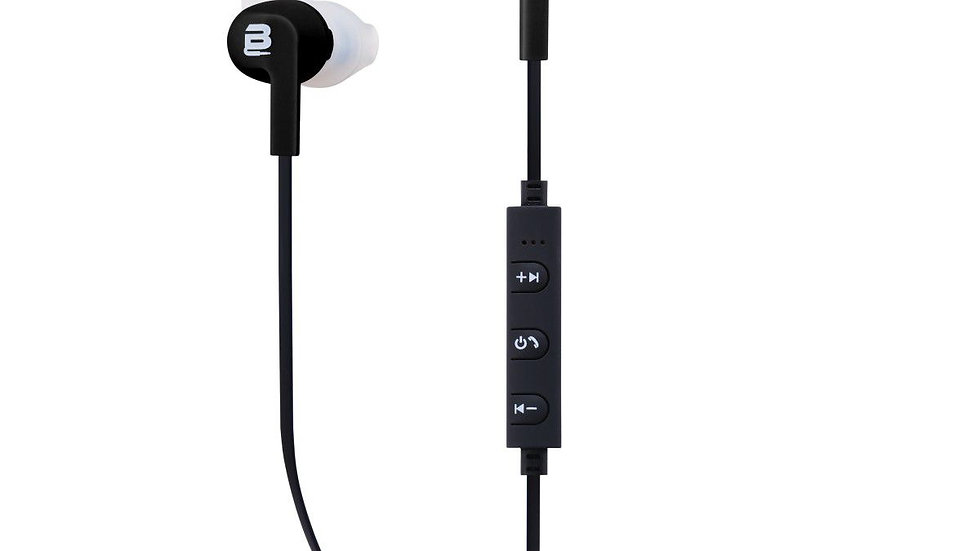 Bounce Pace Series Sports Bluetooth Earphone With Wings - Black