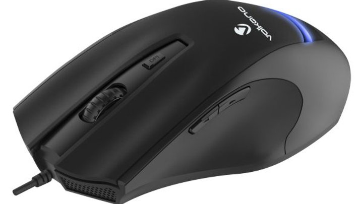 Volkano Argon Series USB Wired Mouse - Black