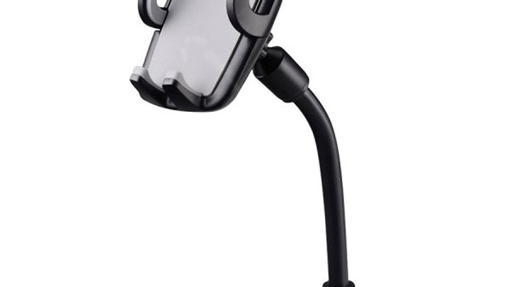 Volkano Flex Series Car Phone Holder with Suction Cup and Flexible Arm - Black
