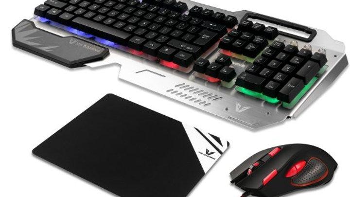 VX Gaming Combat Series Keyboard, Mouse, VK2006 Mousepad Combo