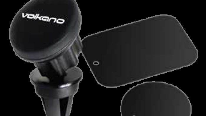 Volkano Breeze Series Car Airvent Magnetic Phone Holder - Black