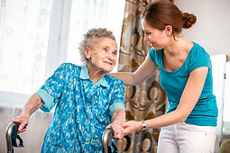 caregiver taking care of senior in the comfort of home in home senior care bloomington minnesota