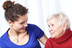 elderly companionship from loving caregiver in home senior care