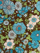 BF-20 Turquoise Floral on Brown