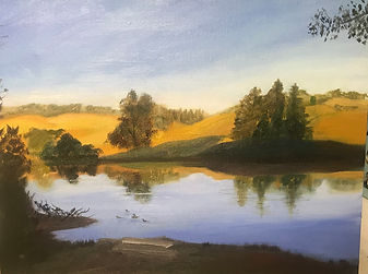 Lake on the Kaimai Ranges, NZ, oil
