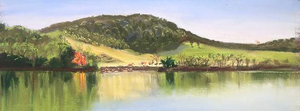 Twin Rivers, pastel