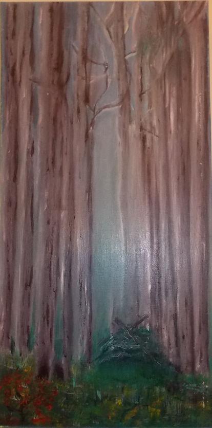 Through the Trees, acrylic on canvas